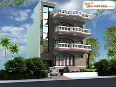 4 bedroom, modern triplex (3 floor) house design. Area: 162 sq mts (9m X 18m). Click on this link (http://www.apnaghar.co.in/pre-design-house-plan-ag-page-63.aspx) to view free floor plans and other specifications for this design. You may be asked to signup and login. Website: www.apnaghar.co.in, Toll-Free No.- 1800-102-9440, Email: support@apnaghar.co.in