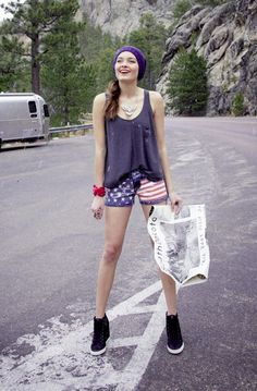 American Icons: Red, white and cute MISS ME sequined jean shorts BUY NOW!