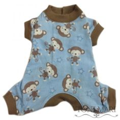 Tonimari Pajama Monkey Baby Stars Blue Brown