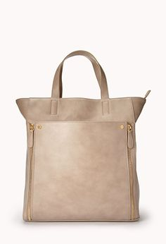 City-Chic Faux Leather Tote | FOREVER 21 - 1000093099