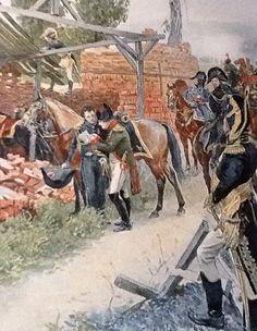 L'Empereur et son état-major en préparation de positionnement , arrivé sur les lieux du combat .