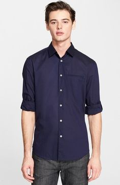 John Varvatos Collection Slim Fit Cotton Woven Shirt available at #Nordstrom