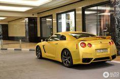Matte Gold Nissan GTR