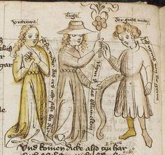 Thomasin <Circlaere>   Welscher Gast (b) Nordbayern (Eichstätt?), um 1420 Cod. Pal. germ. 330 Folio 20v