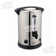 In an office or hosting a party, a kettle just doesn't cut it.  So how can you have enough hot water on demand to satisfy a crowd? This 38L Electric Stainless Steel Hot Water Boiler warmer Heater Urn With Tap might solve your problem. Multi-directional Non Drip Tap With Twist Lock Lid. Commercial Grade.