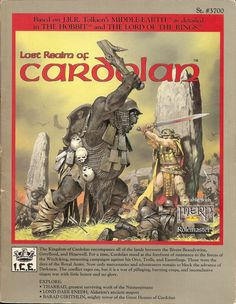 The late, great Angus McBride was a prolific contributor of cover images for Middle Earth Role Playing books. This is one of my favorites, with the last king of Cardolan about to fight his final battle.