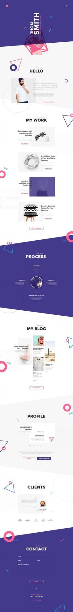 Me Creative Portfolio Web Design (Designer Unknown)