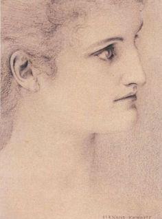 Study of a Woman (A Glance) by Fernand Khnopff, 1895