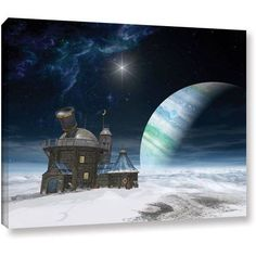 Cynthia Decker Observatory Gallery-Wrapped Canvas, Size: 36 x 48, White