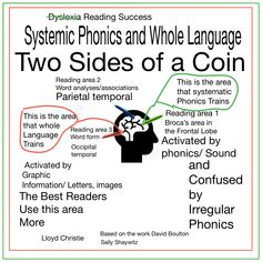 Two Sides of one Coin Phonics and the Scribing Whole Language Learning Method We find a dichotomy between phonics and whole language programmes; this dichotomy is an example of the two processing s… Learning Methods, One Coin, Programming Languages, Dyslexia, Phonics, Literacy, Coins, Success, Reading
