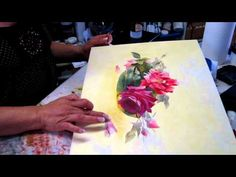 ▶ La peinture des roses de Catharina Klein (2/2) - YouTube
