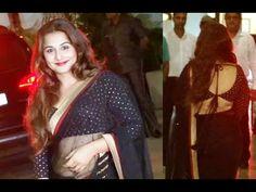 CHECKOUT Vidya Balan looking stunning gorgeous in black transparent saree.  See the video at : http://youtu.be/qiTzMdDI_AQ #vidyabalan #bollywood #bollyoodnews #saree