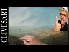 Learn to paint | Rain on the Beach | Full Lesson | Acrylic painting for beginner | #clive5art - YouTube