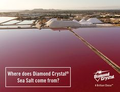 Diamond Crystal® Sea Salt comes from the San Francisco Bay Area, which is ideal for salt-making thanks to the shallow topography, clay soils, and Mediterranean climate. #DiamondCrystalSalt