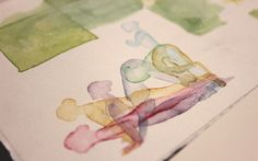 Watercolor Yoga Series - Part 1 on Behance