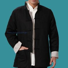 Men #reversible kung fu jacket shirt chinese #martial arts tai chi tang #vintage,  View more on the LINK: http://www.zeppy.io/product/gb/2/351272612171/