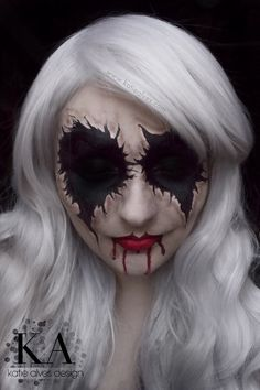 Trendy Makeup Halloween Scary For Women Ideas Scary Clown Makeup, Zombie Makeup, Halloween Face Makeup, Sfx Makeup, Scary Clown Face, Skull Makeup, Creepy Halloween Costumes, Halloween Kostüm, Halloween Inspo