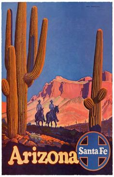 A beautiful Santa Fe Railroad travel poster! Perfectly captures the allure of the Great American Southwest! Ships fast. 11x17 inches. Check out the rest of our excellent selection of Railroad posters!