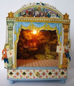 Alice in Wonderland Miniature Toy Theatre - 1/12 dollhouse miniature   eBay