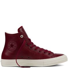 78dd99c719b9f Converse - Chuck Taylor All Star II Mesh Back Leather - Red Block - High Top