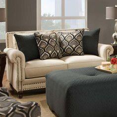 Loveseat in Oatfield Oatmeal | Nebraska Furniture Mart