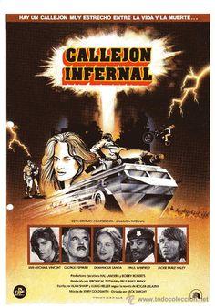 Callejón infernal (Damnation Alley) 1977 Tres supervivientes del holocausto nuclear viajan hacia Nueva York, a través de toda America, en busca de algún resto de civilización. Por el camino encuentran dos personas mas.