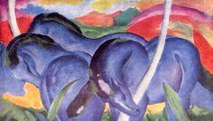 Die großen blauen Pferde (1911) Les Grands Chevaux bleus. Franz Marc.