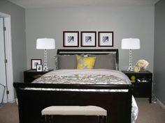Grauer teppichboden schlafzimmer  wohnideen schlafzimmer graue wand heller boden wanddeko rote ...