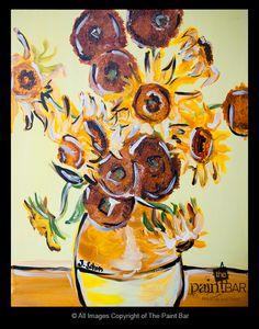 Van Gogh Sunflowers www.thepaintbar.com