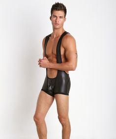 Cell Block 13 Liquid Skin Singlet Black CBS025-BLK at International Jock Underwear & Swimwear