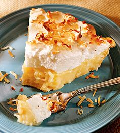 Cream of coconut makes this pie filling rich, velvety, and full of flavor. Look for nonalcoholic cream of coconut where alcoholic beverage mixes are sold in the grocery store.