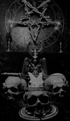 Satanic Altar -  really like the pentagram made up of bones, I think I'm going…