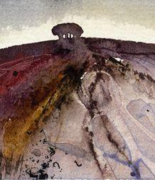 May Hill, Mixed media, watercolour, Kathy Lewis,