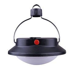 60 LED Ultra Brillante de la Lámpara de Camping Luz de La Tienda Al Aire Libre Con Pantalla Círculo ABS Durable Recargable Pesca Colgante de Iluminación