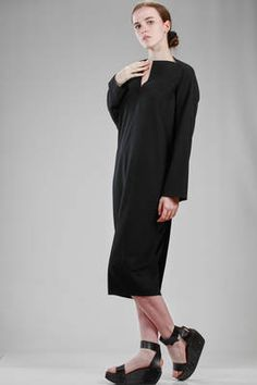 Rick Owens | longuette dress in light viscose and wool cloth | #rickowens