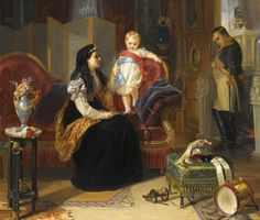 'First Interview Of The Divorced Empress Josephine With The King Of Rome' by Henrietta Ward, 1850s