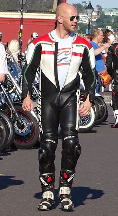 Motorcycle Suit, Motorcycle Leather, Biker Leather, Leather Men, Sexy Biker Men, Skinhead Men, Motorbike Leathers, Biker Gear, Bald Men