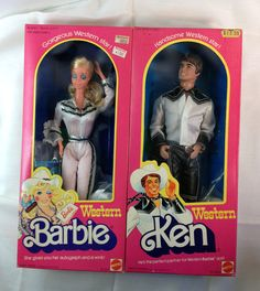 1981 Vintage Western Barbie & Ken 2 Dolls had them both!