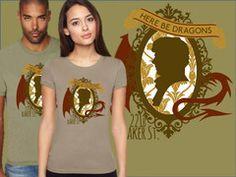 Here Be Dragons Sherlock shirt | BBC geeky apparel | My Geekery