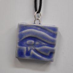 Eye of Horus Egyptain Hieroglyph Porcelain by celticsouljewelry, $10.00