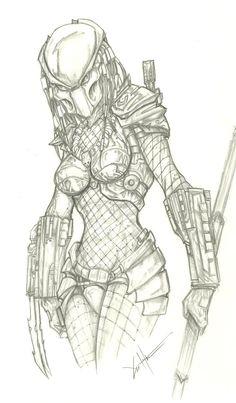 Female Predator by ChrisOzFulton on DeviantArt Predator Costume, Predator Cosplay, Predator Movie, Predator Alien, Aliens, Character Art, Character Design, Alien Drawings, Alien Concept Art