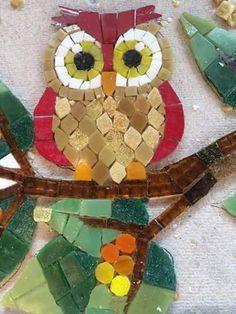 Works in mosaic Owl Mosaic, Mosaic Birds, Mosaic Wall Art, Mosaic Diy, Mosaic Garden, Mosaic Crafts, Mosaic Glass, Mosaic Designs, Mosaic Patterns