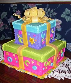 Nice Cake Decorated For A Birthday Party Sweet