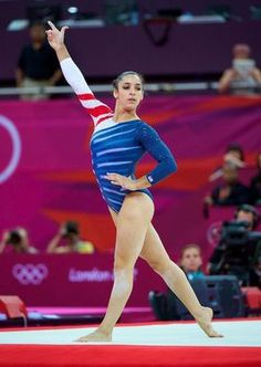 Team USA's Aly Raisman competes on the floor exercise during the women's gymnastics event finals at the London Olympics.