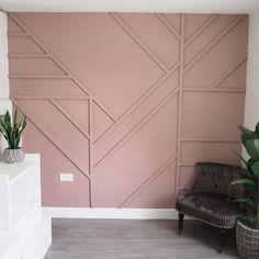 Bedroom Wall, Bedroom Decor, Bedroom Ideas, Feature Wall Design, Feature Walls, Flur Design, Accent Wall Designs, Accent Walls In Living Room, Home Decor Inspiration