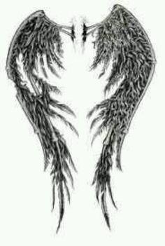 fallen Angel Wings Back Tattoo Designs Angle Wing Tattoos, Wing Tattoo Men, Wing Tattoos On Back, Tattoo Son, Demon Tattoo, Samurai Tattoo, Fallen Angel Wings, Fallen Angel Tattoo, Demon Wings