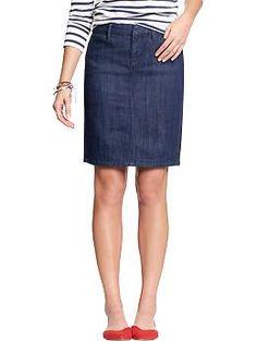 Womens Denim Pencil Skirts