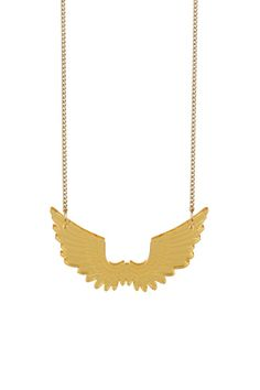 Come on now who wouldn't want wings?  Pegasus Mini Necklace - gold mirror