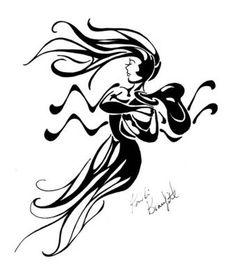 Aquarius Zodiac | Zodiac Tattoo Designs: Aquarius | MadSCAR