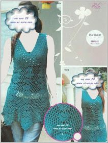 MARINITA ENTRE HILOS Y AGUJAS: A CROCHET REMERAS II Crochet Top, Crochet Patterns, Tops, Women, Baby, Fashion, Green Tunic, Tricot, White Blouses